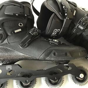 FR Spin Freestyle Skates Size 10.5 (44) Black (Z02B)