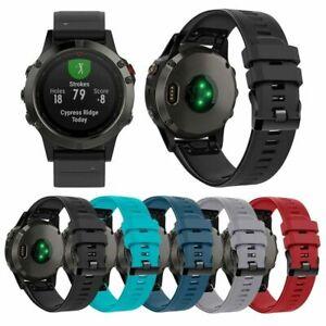 For Garmin Fenix 5/5 Plus Release Silicone Replacement Bracelet Wrist Band Strap