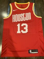 James Harden Red Houston Rockets Throwback Jersey Size Large New