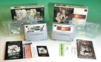 lot of 2 Nintendo Super Famicom Front Mission Gun Hazard SFC JP Square NTSC-J