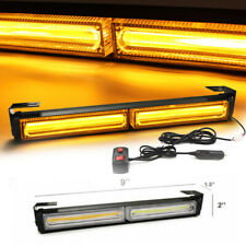 Car COB LED Emergency Warning Hazard Flash Strobe Light Bar LED Yellow Amber