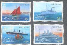 Isle of Man-Ships mnh set of 4-including Lusitania