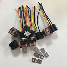 5 Set SPDT 1NC 1NO Ceramic Socket 5 Pin Vehicle Car Relay DC 12V 40 Amp JD1914