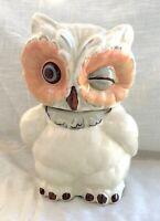 Vintage Shawnee Pottery Ceramic Winking Owl Cookie/Biscuit Jar