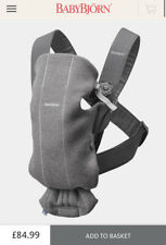 Baby Bjorn Mini Carrier Jersey Grey Rrp £84.99 Boxed