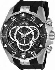 Invicta Excursion 24271 Men's Round Black Chronograph Date Analog Silicone Watch