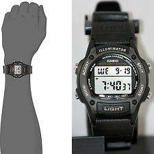 Casio W-93H-1A Mens Black 50M WR Watch LED Light Alarm Multi Function New