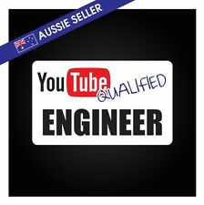 Youtube Qualified ENGINEER - FUNNY PRANK Sticker Tools Shed Car Decal Toolbox