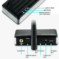 Homespot Bluetooth Audio Receiver Adapter Long Range APTX Low Latency
