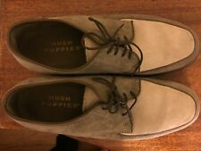 Hush Puppies Classic 2-Toned Suede Oxfords 6.5 Olive/Gray