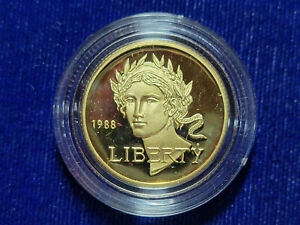 🌟1988-W US Gold $5 Olympic Commemorative Proof - Coin in Capsule