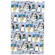 "Emma Ball ""Christmas Penguins"", Pure cotton tea towel. Printed in the UK."