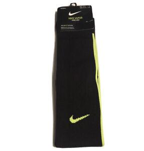 NIKE VAPOR Knee High DRI-FIT Socks Black Volt SX5732-013 Size 8-12 Large NEW