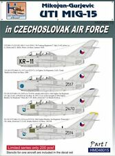 H-Model Decals 1/48 Mikoyan MiG-15UTI in CzAF, Pt.1 # 48015