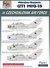 H-Model Decals 1/48 Mikoyan MiG-15UTI in CzAF, Pt.1 # 48015