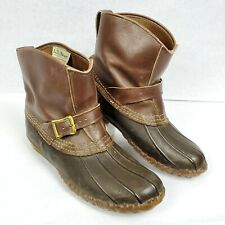 Vtg LL Bean Maine Hunting Shoes Duck Boots Buckle Strap USA Made ☆ Women's 10
