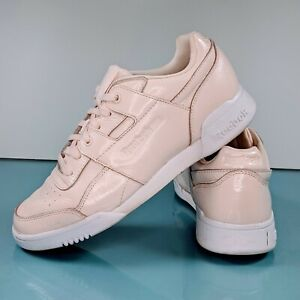 REEBOK Womens 9 Vintage Patent Leather Athletic Sneakers Aerobics Running Shoes