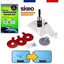 Sikeo® Kit Réparation Résine Avec Injecteur Pour Éclat Pare-Brise Verre Fissuré