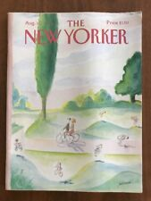 1986 August 11 The New Yorker Magazine Family Bicycles Sempe
