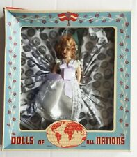 "Vintage 1950s Dolls of All Nations ""Swedish Girl"" Doll in Box"