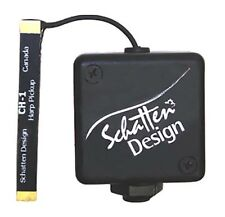 Schatten Ch-1 Celtic and Small Harp Passive Pickup with Clip-On Jack, New!