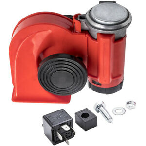 12v 150db Red Air Blast Horn For Car Truck Lorry SUV Boat Snail Twin Tone Lound