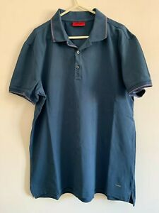 Hugo Boss Red Label Mid Blue Short-Sleeved Polo Top size XL used