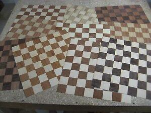 "16"" Chess / Checkerboard Veneers, Various Materials, VENEER WOODWORKING REQUIRED"