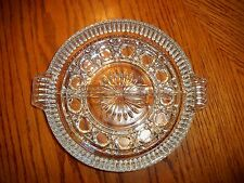 Vintage Clear Glass Federal Windsor 2 Part Relish Dish