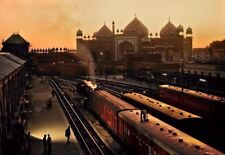 Steve McCurry (Signed) Magnum Archival Photo Print 15x15cm. Agra Railway Station