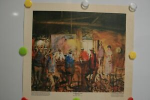 """Hugh Sawrey's Print Titled""""In Murphy's Pub"""" in Roma, QLD. Signed."""