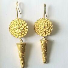 Designer Earrings, Hilat, 24K Yellow Gold