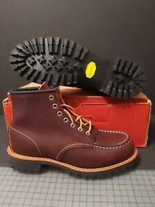 RED WING MEN'S  8146 MOC TOE BROWN LEATHER WORK BOOTS SIZE: 8.5