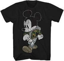 Mickey Mouse Camo Hyped Retro Classic Adult Tee Graphic T-Shirt for Men Tshirt