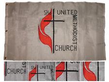3x5 Embroidered United Methodist Church 300D Nylon Flag 3'x5' 3 Clips