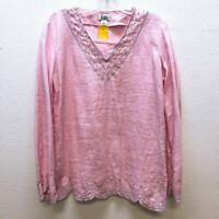 *Lilly Pulitzer Pink Tunic Linen Beaded Small