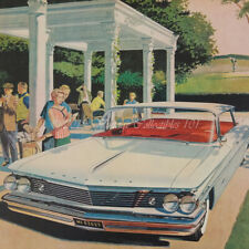 1960 Pontiac Bonneville Vista golf club classic car AFVK art decor vintage ad