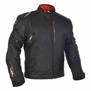 Oxford Toledo 1.0 Textile Motorcycle Motorbike Waterproof Jacket - Tech Black