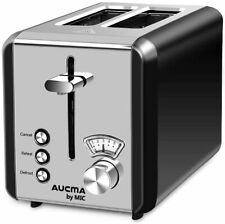 MIC Toaster 2 Slice Wide Slot with 6 Browning Settings Polished Stainless Steel
