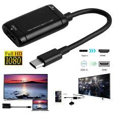 Tipo-C Hub USB 3.1 a HDMI Adaptador Cable para Mhl Teléfono Android Tablet Negro