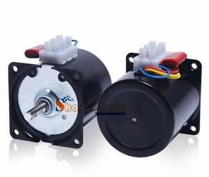 Synchronous Motor 110V AC 60Hz 1 to 110 RPM CW/CCW 14W Gear Motor 60KTYZ