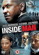 Inside Man DVD As New & Sealed Jodie Foster, Denzel Washington, Clive Owen, Robe