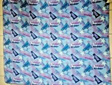 Cheerleader Spirit Fleece Throw Blanket Drill Dance Victory Purple Blue 58�X49�