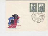 Poland 1960 Polish Folk Costumes +  Slogan Cancel FDC Stamps Cover ref 22974