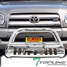 Topline For 1999-2006 Tundra/Sequoia Bull Bar Bumper Grille Guard - Stainless
