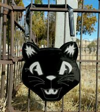 Sweet Midnight Black Silver Cat Halloween Gothic Punk Horror Purse Backpack Bag
