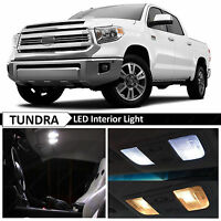 19 Bulbs White LED Interior + License Plate Lights Fits 2017 2018 Toyota Tundra