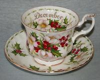 ROYAL ALBERT ' FLOWERS OF THE MONTH ' TEA SET & TABLEWARE - ENGLISH BONE CHINA