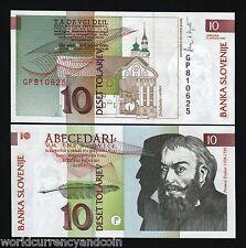 SLOVENIA 10 TOLARJEV P11 1992 EURO PEN CHURCH UNC CURRENCY MONEY BILL BANK NOTE