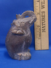 """Hand Carved Marble Elephant Figurine With Natural Marble 3 1/2"""" Tall"""